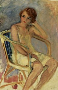 Henri-Lebasque-Young-Woman-Seated-Impressionism-Paintings-Artwork-37