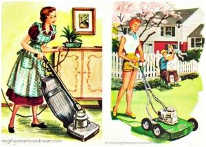 suburbs-gardening-mowers-housework