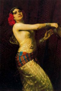otto-pilny-swiss-painter1866-1936-tambourine-dancer