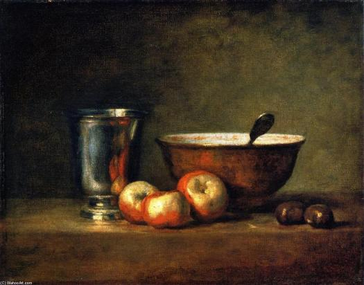 Jean-baptiste-simeon-Chardin-_Three-Apples-Two-Chestnuts-Bowl-and-Silver-Goblet-...Silver-Goblet-_
