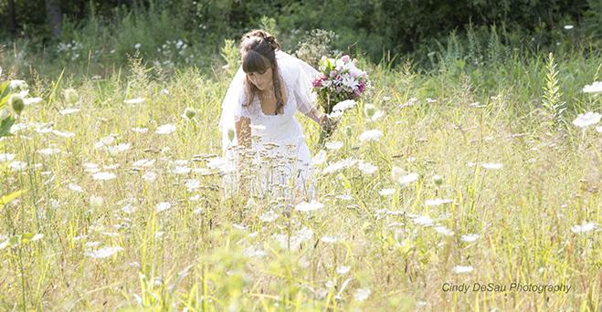 Bride-field-flowers