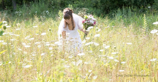 Bride-field-flowers
