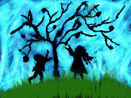 silhouette-children