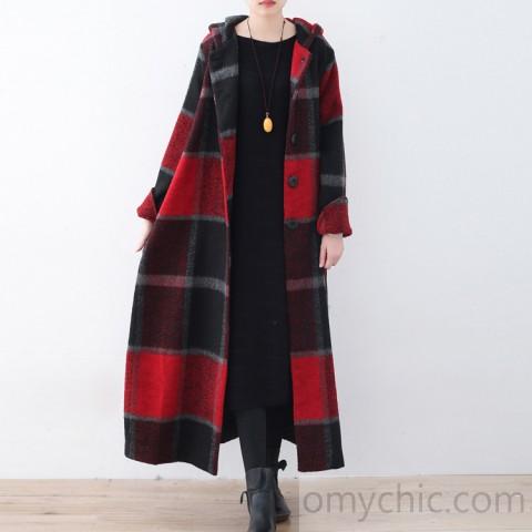 2017_red_plaid_wool_coat_plussize_Winter_coat_women_hooded_maxi_coat1